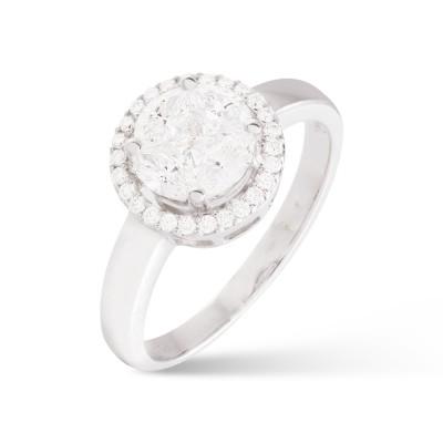Anillo Rosetón Diamantes